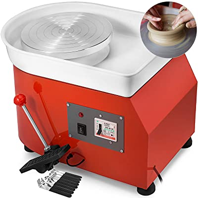 Electric Ceramic Shaping Wheel with Adjustable Pedal for Clay Ceramic Work review