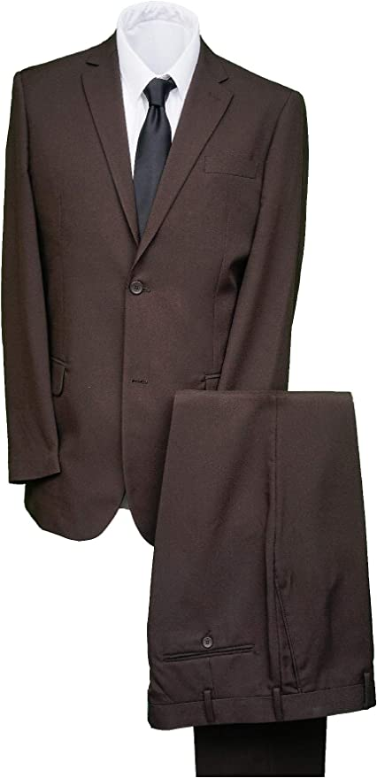 Michealboy Mens Double Breasted Classic Fit Office 6 Button Suit Jacket /& Pleated Pants Set