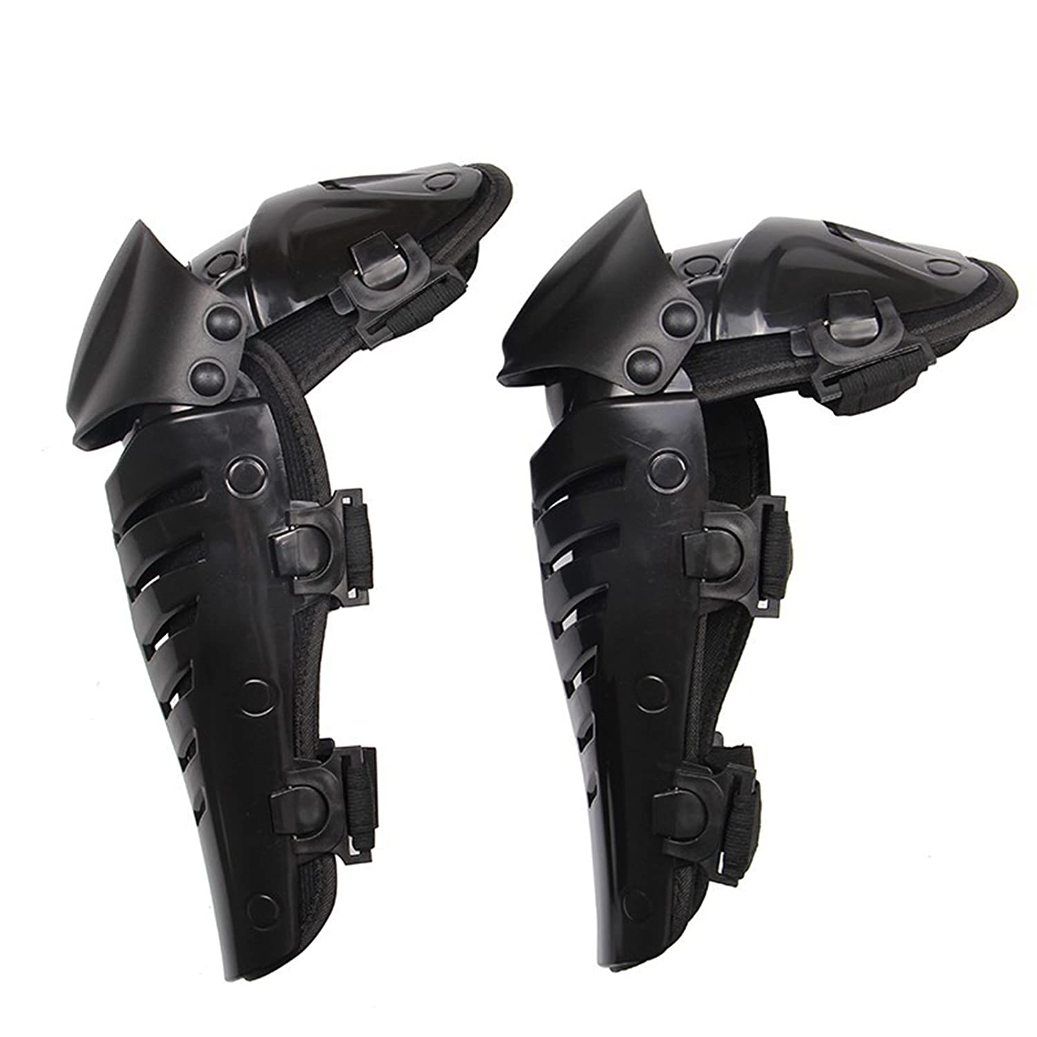 BARHAR 1 Pair of Adults Fashion Knee Shin Armor Protect Guard Pads Accessories with Plastic Cement Hook for Motorcycle Motocross Racing