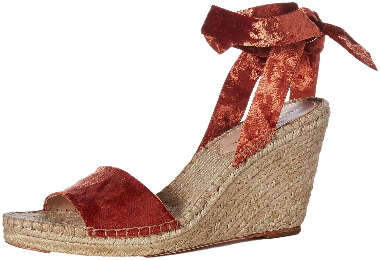 Brique Loeffler Randall Womens Harper-cvl Espadrille Wedge Sandal