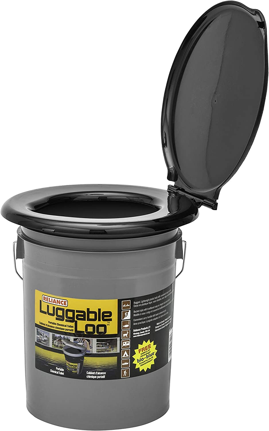 Reliance Products Luggable Loo Portable 5 Gallon Bucket