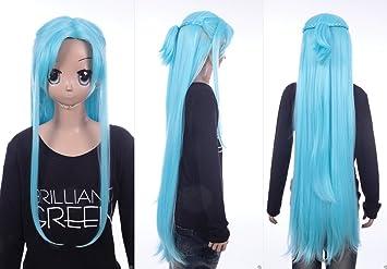 W de 641 Sword Art Online Alo alfheim Asuna Yuuki Azul 105 cm Cosplay peluca Wig