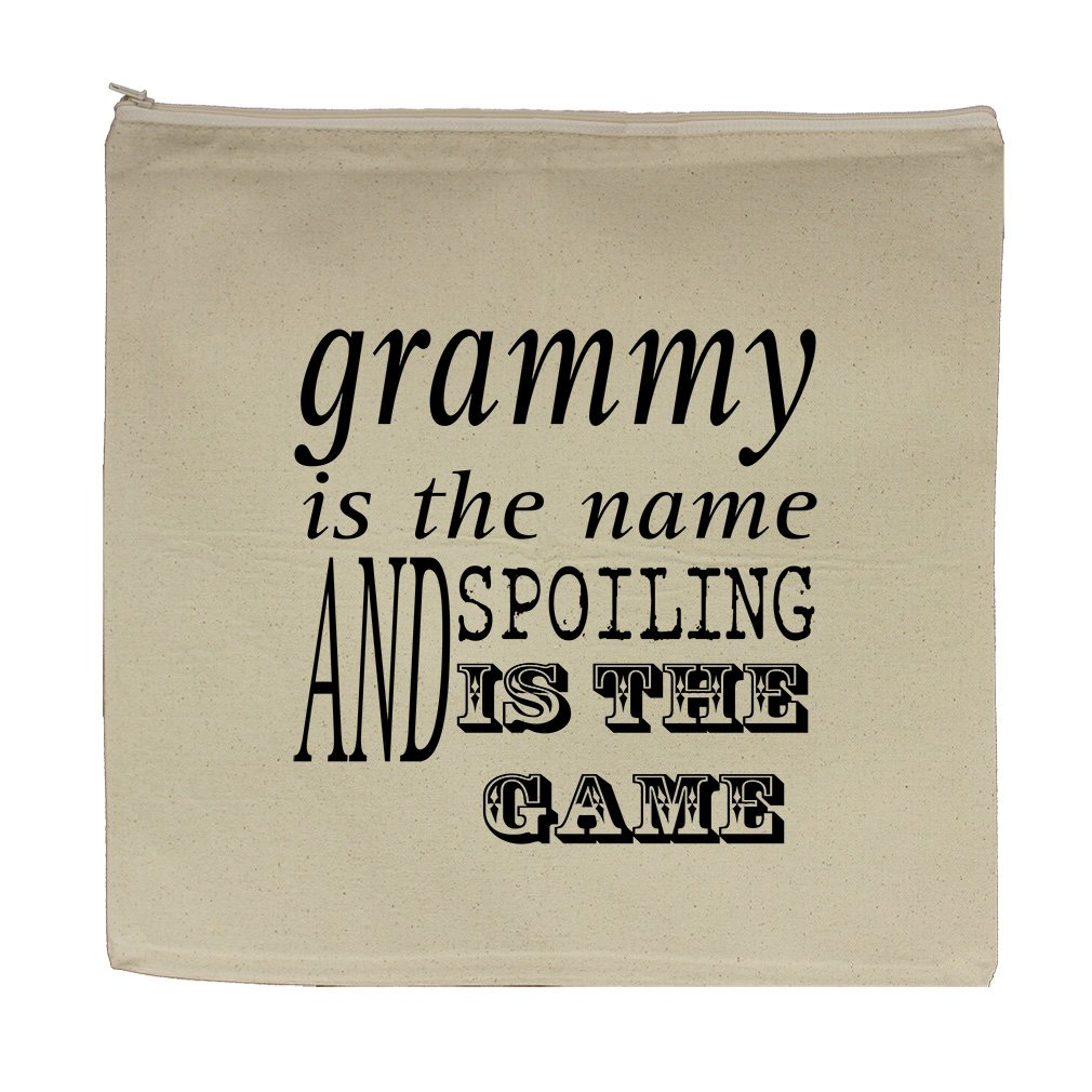 Grammy The Name Spoiling The Game #2 Canvas Zipper Tote Bag Makeup Bag