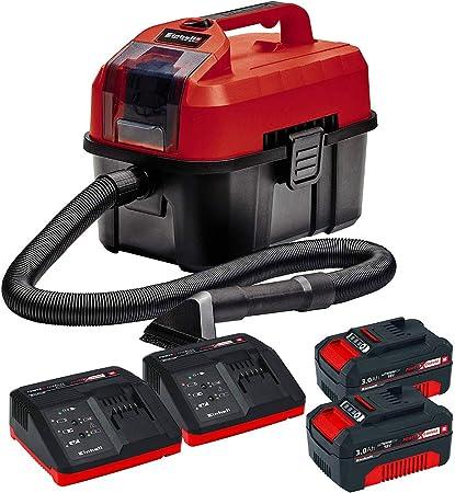 Bricolemar EINHELL - Kit aspiradora Universal seco-húmedo TE-VC 18V 10 L + 2 baterias Einhell 18V PXC 3,0Ah Power X-Change + 2 x Cargador Einhell 18V: Amazon.es: Hogar