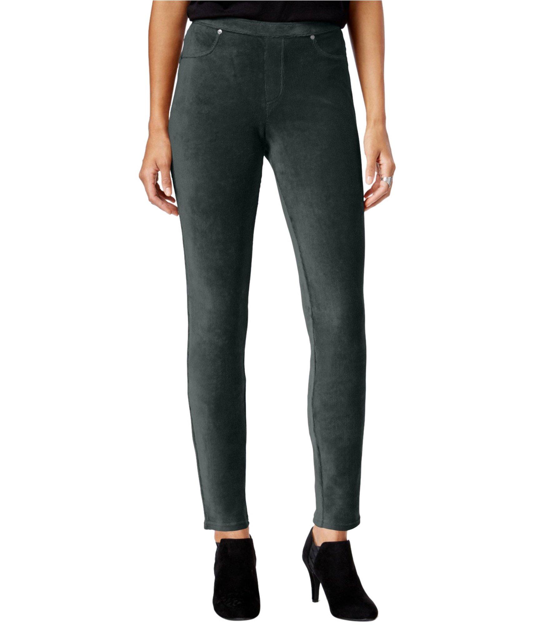 Style & Co. Womens Corduroy Casual Leggings Grey PP/26 - Petite