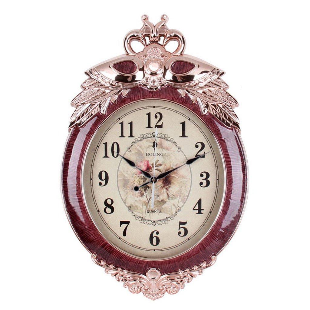 IAIZI アールデコ調の時計、リビングルームの時計クリエイティブパーソナリティモダンサイレントウォールクロック (色 : D) B07DWXQ6Z3 D D