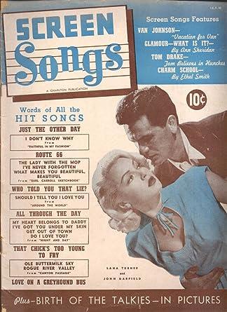 Van Johnson Ann Sheridan Ross Hunter Kathryn Grayson SCREEN SONGS 8
