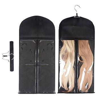 Amazon.com: Extensión de pelo percha de ropa doble lateral ...