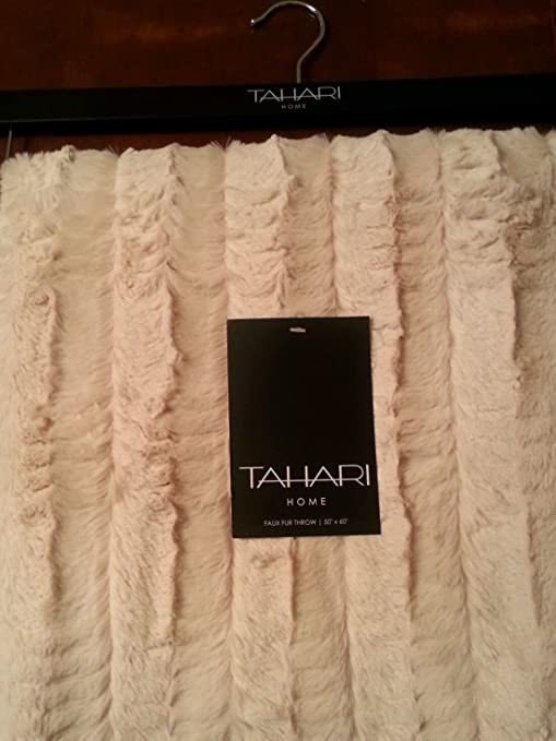 Amazon Tahari Home Faux Fur Throw Blanket Home Kitchen Stunning Tahari Throw Blanket