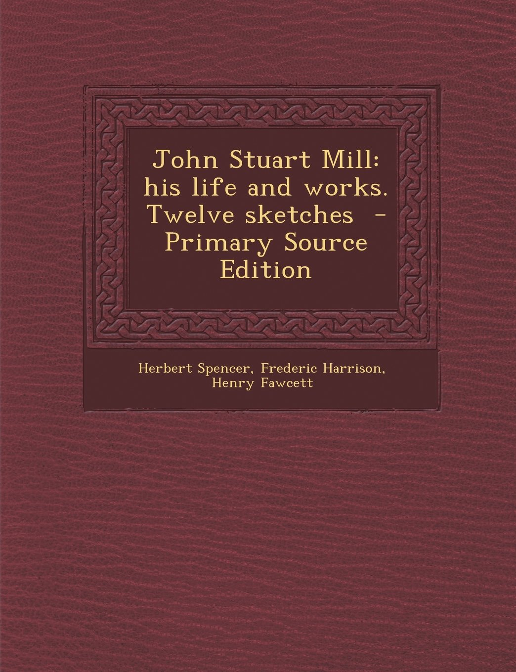 John Stuart Mill: his life and works. Twelve sketches  - Primary Source Edition
