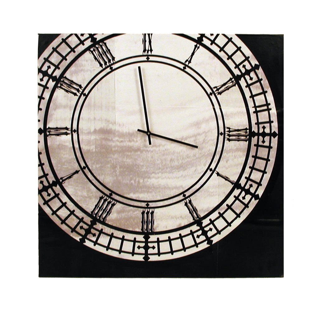Ohio Wholesale Black and White Clock Canvas Wall Art, from our Everyday Collection by Ohio Wholesale