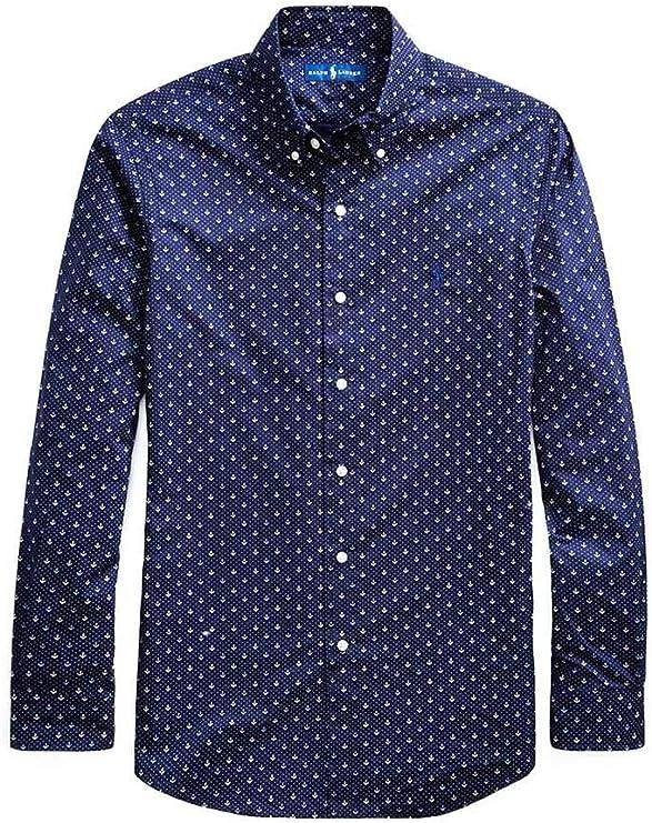 Polo Ralph Lauren Camisa Anclas Azul Hombre S Marino: Amazon.es ...