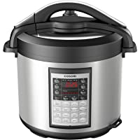 COSORI CP018-PC 8Qt 8-in-1 Electric Pressure Cooker with Instant Stainless Steel Pot, 17-Program Slow Cooker, Steamer, Sauté, Yogurt Maker & Warmer, Extra Glass Lid, 2-Year Warranty, 8 quart
