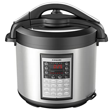 COSORI 8Qt 8-in-1 Electric Pressure Cooker with Instant Stainless Steel Pot, 17-Program Slow Cooker, Rice Cooker, Steamer, Sauté, Yogurt Maker & Warmer, Extra Glass Lid, 2-Year Warranty