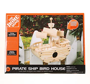 The Home Depot de barco pirata casa de pájaros