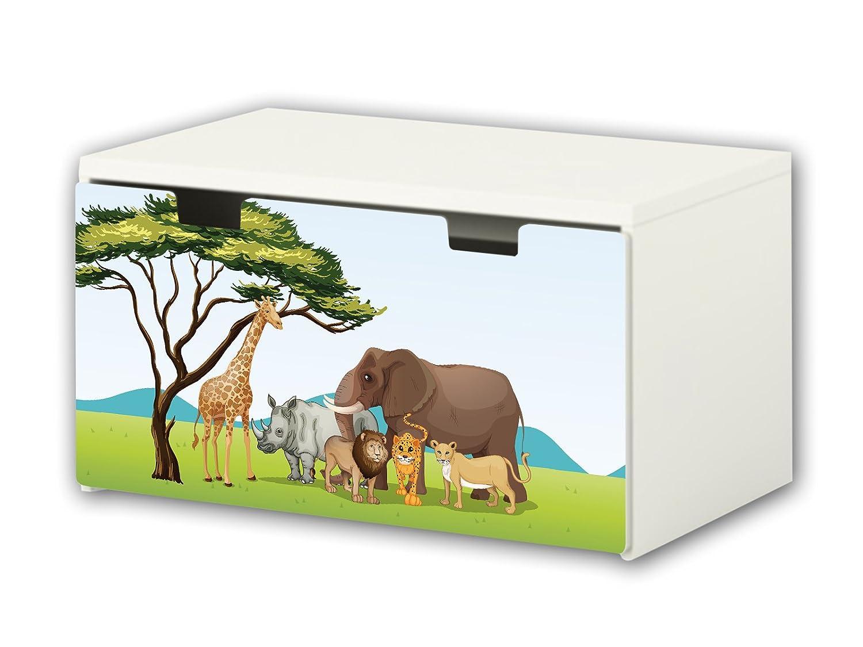 Wildlife Africa Furniture Film | BT24 | Furniture sticker with butterfly Motive | matching to the children's storage bench STUVA of IKEA (90 x 50 cm) STIKKIPIX®
