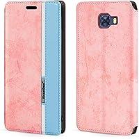 Capa para Samsung Galaxy C7 Pro, capa flip de couro com fecho magnético multicolorido, com suporte para cartão para…