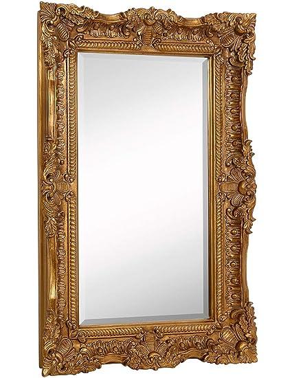 amazon com hamilton hills large ornate gold baroque frame mirror