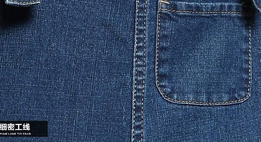UUYUK Women Cozy Girls Juniors Plus Size Pants with Pockets Jeans Denim Big Overalls