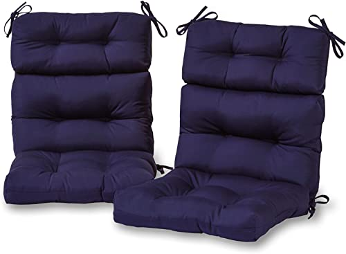 Greendale Home Fashions AZ6809S2-NAVY Midnight Outdoor High Back Chair Cushion Set of 2