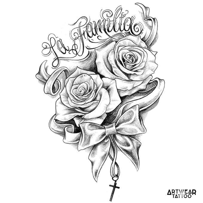 Temporary Tattoo Water Transfert Artwear Tattoo La Familia