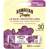 Hawaiian Tropic Lip Balm - Bálsamo Protector Solar de Labios SPF 30 , Sabor Tropical , 4 gr
