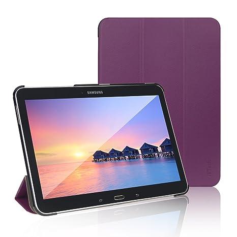 JETech Funda para Samsung Galaxy Tab 4, Carcasa con Soporte Función, Auto-Sueño/Estela, color Púrpura, 10.1