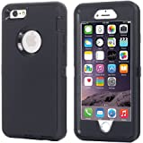 iPhone 7 Case, iPhone 8 Case, [HEAVY DUTY] Built-in Screen Protector Tough 4 in1 Rugged Shorkproof Cover [With Kickstand] for Apple iPhone 7 & iPhone 8