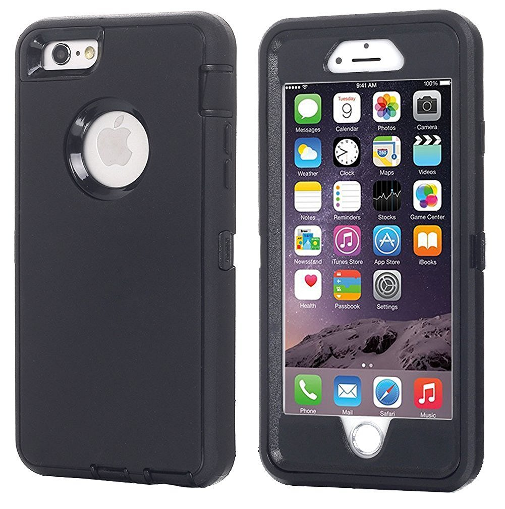 timeless design 1d268 bd444 Annymall Case Compatible for iPhone 8 & iPhone 7, Heavy Duty [with  Kickstand] [Built-in Screen Protector] Tough 4 in1 Rugged Shorkproof Cover  for ...