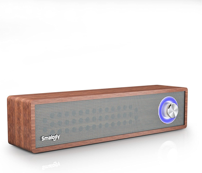 Altavoz Bluetooth Retro Smalody, Altavoz inalámbrico portátil Bluetooth 5.0, Altavoz estéreo para Uso doméstico en Exteriores con Sonido Potente, Tarjeta AUX TF y Reproductor MP3