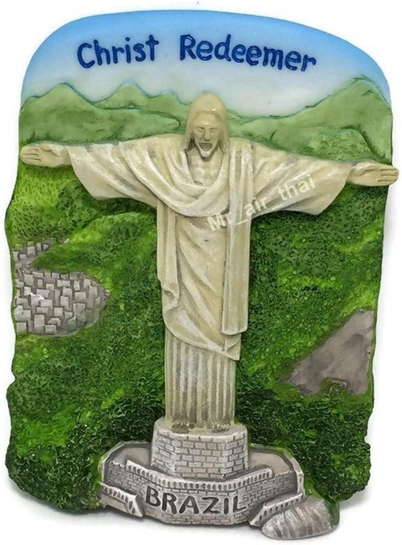 Christ Redeemer Rio De Janeiro Brazil Resin 3d Fridge Magnet SOUVENIR TOURIST GIFT 069 by Mr_air_thai_Magnet_World