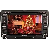 Pumpkin 7 Pulgadas Pantalla Táctil Digital 2 DIN Reproductor de DVD Radio para Golf Jetta Passat Polo Soporte GPS Navegador/Bluetooth/Control de Volante/SD/USB