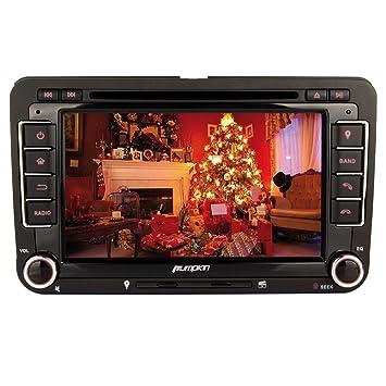 Pumpkin 7 Pulgadas Pantalla Táctil Digital 2 DIN Reproductor de DVD Radio para Golf Jetta Passat Polo Soporte GPS Navegador/Bluetooth/Control de ...
