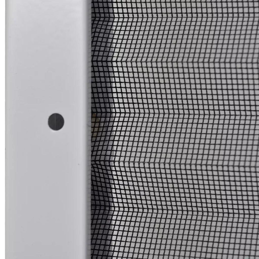 Daonanba Window Mesh Screen Plisse Insect Screen Adjustable Sturdy Aluminum Frame 47.2''x47.2''