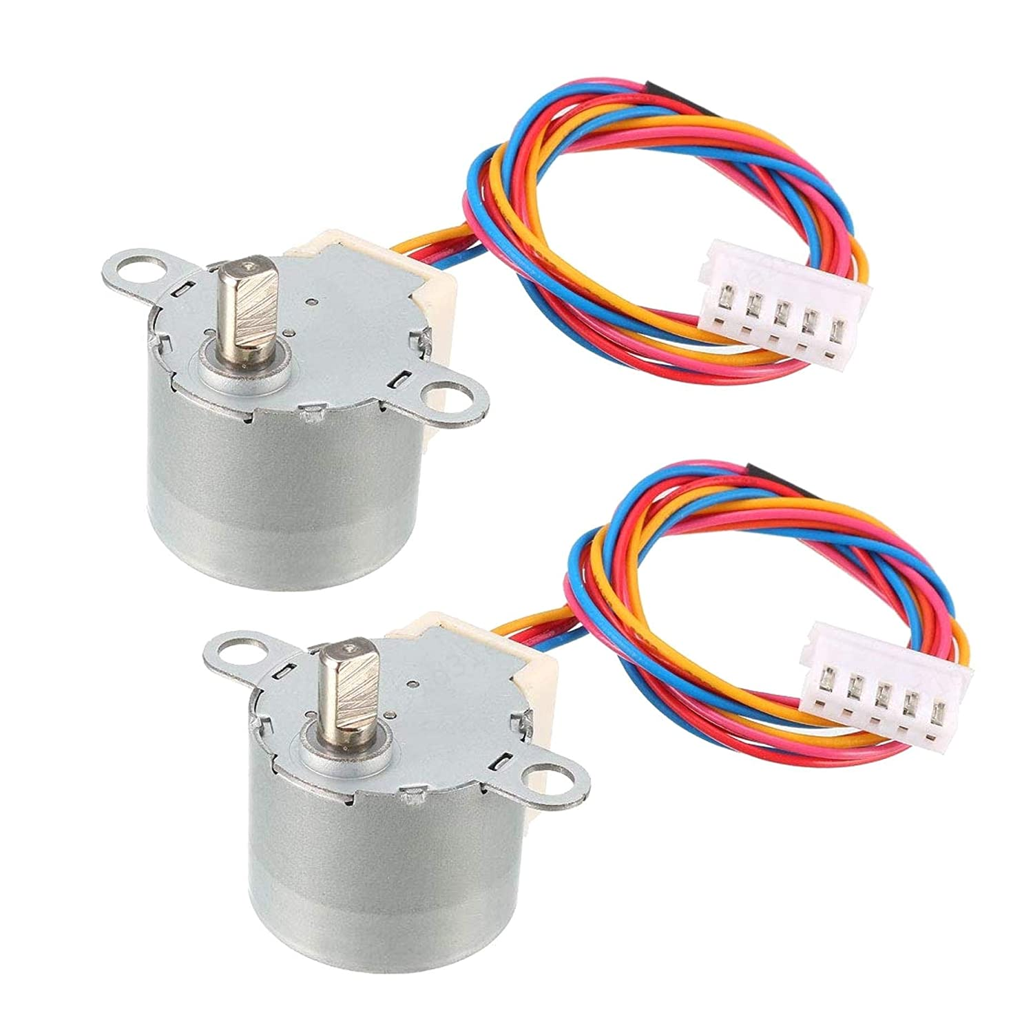 COMEYOU 2 Piezas 24BYJ48 DC 12V Reducci/ón Motor Paso a Paso Micro Reductor 4-Phase 5-Wire Stepping Motor