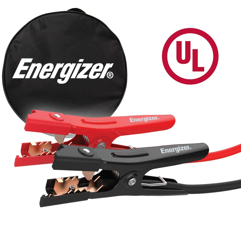 Energizer 4-Gauge Jumper Battery Cables 16 Ft Booster Jump Start UL Listed