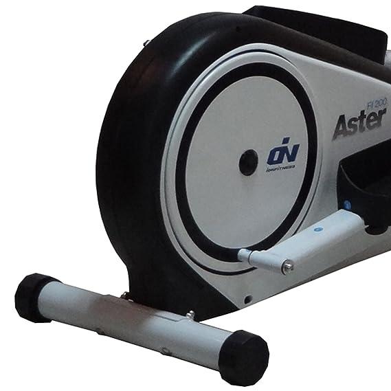 Elíptica Aster FI200 by ION fitness. Blanca. Zancada de 33cm. Volante inercia 6Kg. Control de pulso: Amazon.es: Deportes y aire libre