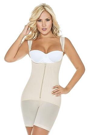 4e08c502c4c25 Amazon.com  ShapEager Faja Braless Full Body Briefer Girdle Cincher  Adjustable Straps Bodyshaping  Clothing