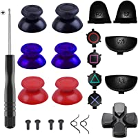 Yosikr 3 Pairs Thumbsticks Joystick for Playstation 4 PS4 Controller Gamepad with Cross Screwdriver + L2 R2 L1 R1…