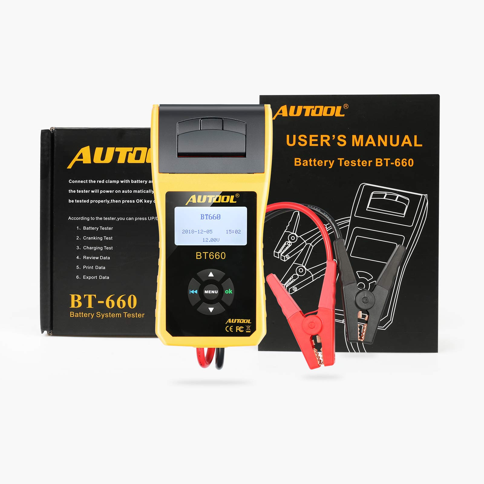 AUTOOL BT660 Battery Conductance Tester 12V/24V BT-660 Auto Battery Testers Automotive Diagnostic Tools for Heavy Duty Trucks, Light Duty Truck, Cars by AUTOOL (Image #9)