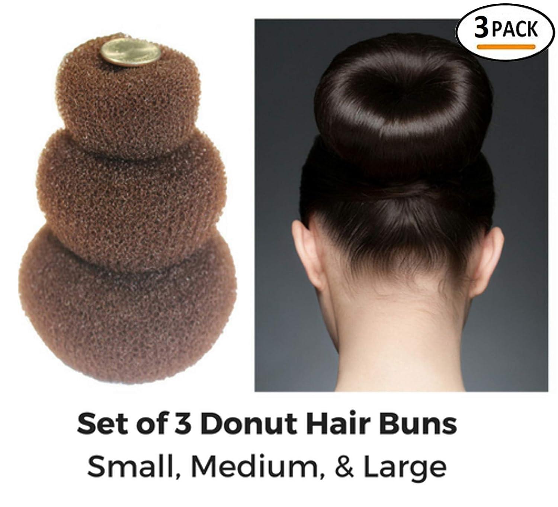 Amazon Styla Hair 3 Piece Donut Hair Bun Maker 1 Small 1