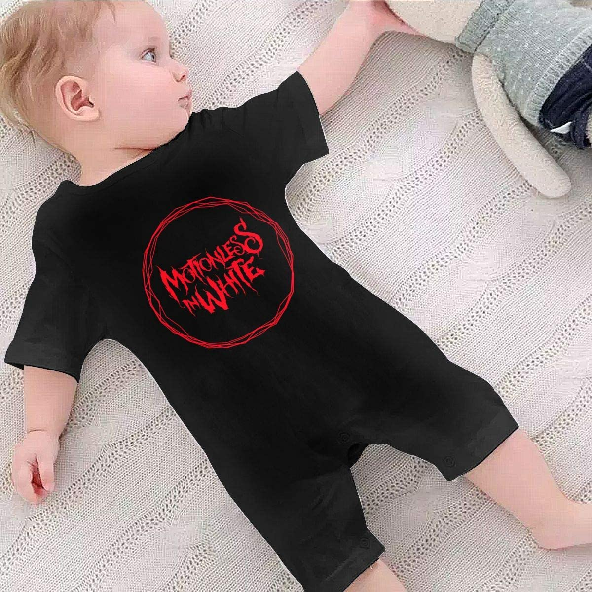 Motionless in White 1-24 Months Boy Girl Baby Short Sleeve Creeper Jumpsuit 6 Months Black