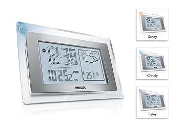 Philips AJ210/12 Radio reloj meteorológico Temperatura del interior (plateado): Amazon.es: Electrónica