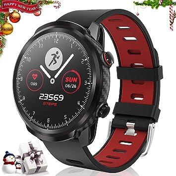 CatShin Smart Watch Tracker de Actividad, Pantalla táctil smartwatch Fitness Tracker, Reloj Deportivo Bluetooth IP67 a Prueba de Agua con Monitor de ...