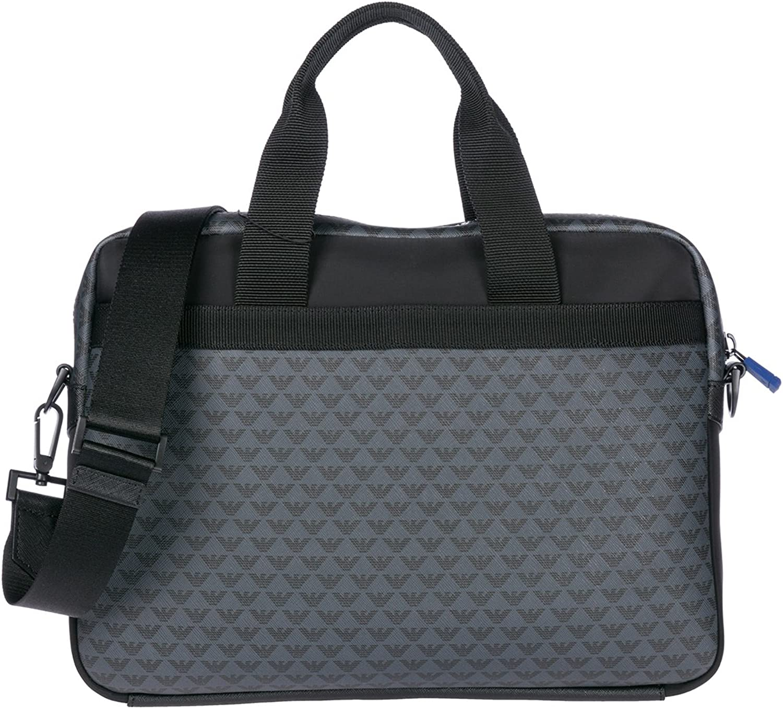 Emporio Armani - briefcase bag, all over logo print