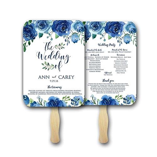 amazon com wedding fans for guests wedding program fans wedding fan