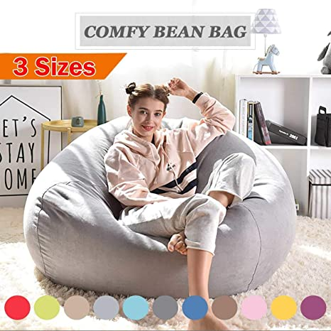 Surprising Amazon Com Big Big Shot 1Pcs Large Bean Bag Sofa Cover Onthecornerstone Fun Painted Chair Ideas Images Onthecornerstoneorg