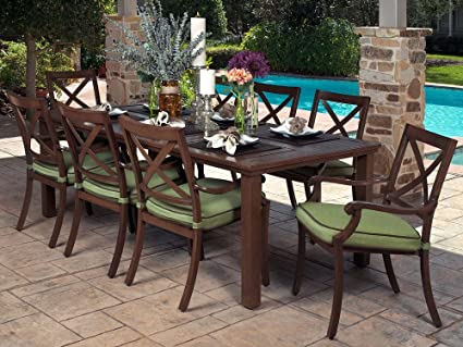 Amazon Com Veranda Classics Riviera 9 Piece Dining Set Dining