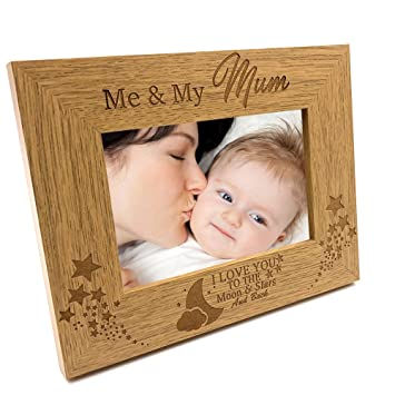 5 x 7 Inch ukgiftstoreonline Me and My Mummy Love You To The Moon Photo Frame Gift