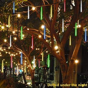 Sunnymi - Guirnalda de luces LED para ducha, impermeable, luz solar para decoración de jardín, para fiestas, bodas, árbol de Navidad, patio: Amazon.es: Iluminación